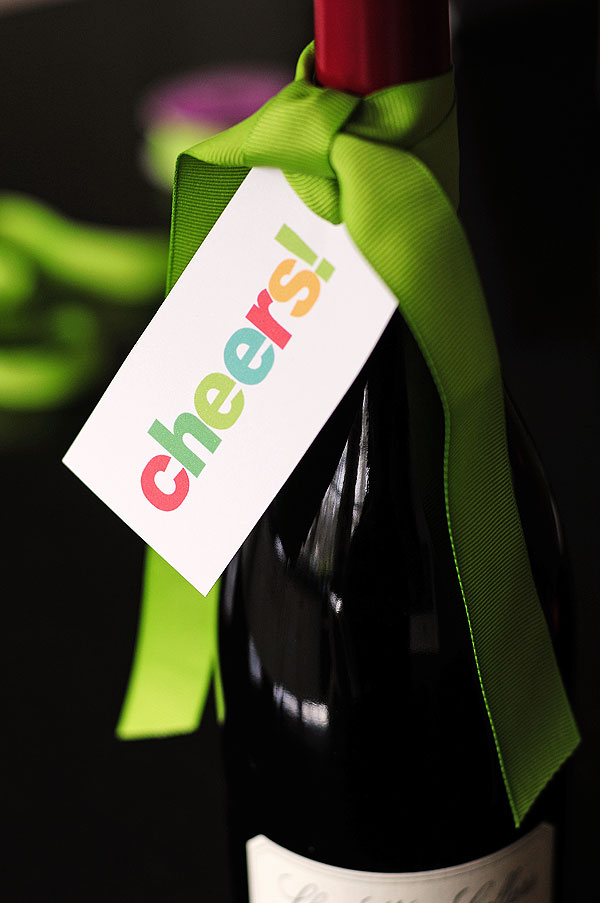 Cheers! Free Wine Gift Tag Printable