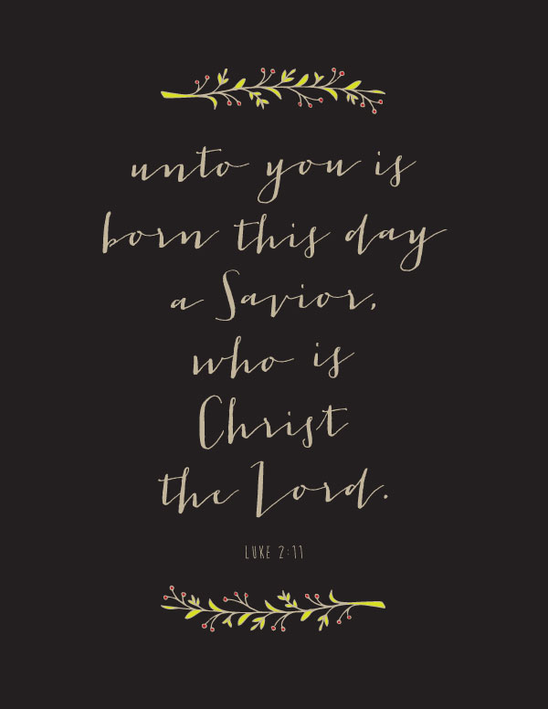 Free Christmas Printable — Unto You Born This Day