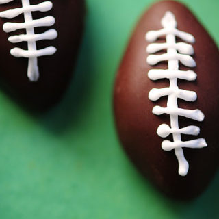 Chocolate Peanut Butter Footballs Recipe | shewearsmanyhats.com