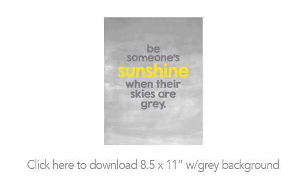 Be Sunshine Free Printable and Backgrounds