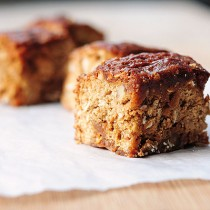 Oatmeal Walnut Caramel Coffee Cake Recipe