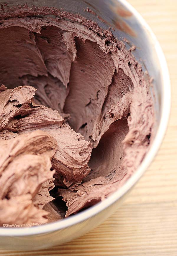 Dark Chocolate Buttercream Frosting Recipe | She Wears ...