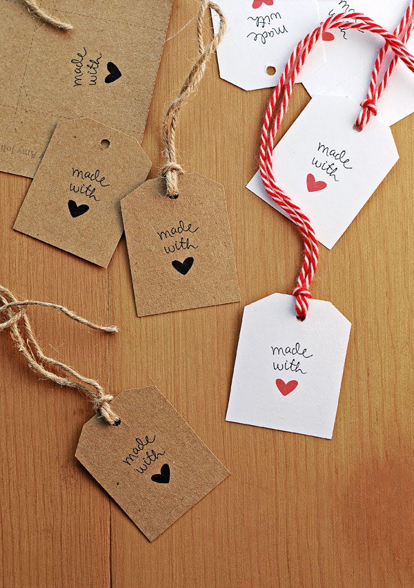 photo relating to Diy Gift Tags Free Printable titled Cost-free Developed With Delight in Present Tags She Wears Numerous Hats