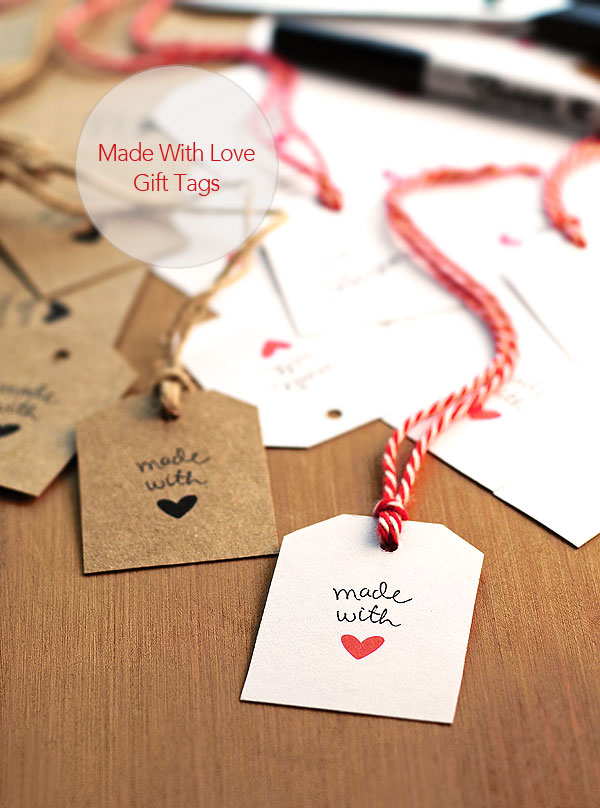 Free Made With Love Gift Tags