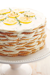 Meyer Lemon and Thyme Icebox Cake Recipe