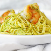 Shrimp Pasta with Cilantro Pesto Recipe