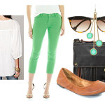 Easy In Style Outfit Ideas : Colored Pants