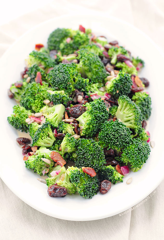 Broccoli Salad Recipe | She Wears Many Hats