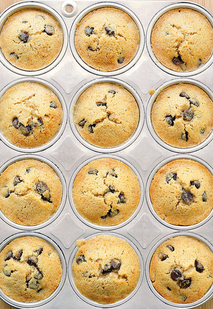 chocolate chip muffins recipe