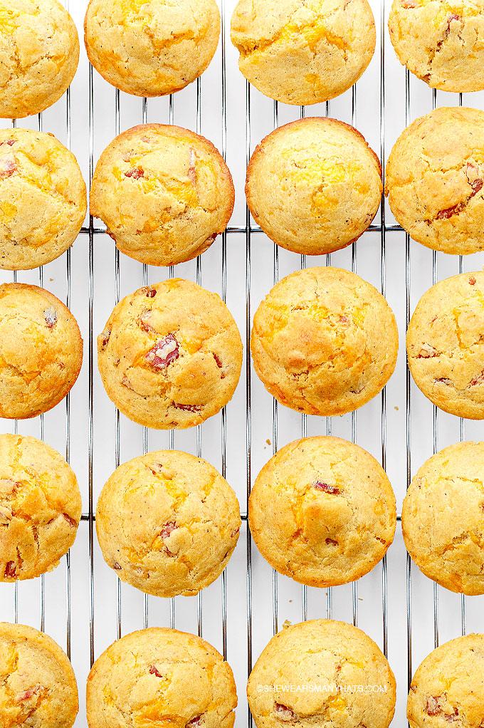 Ham Cheese Breakfast Muffins Recipe