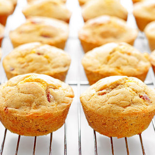 Ham Cheese Breakfast Muffins Recipe | shewearsmanyhats.com
