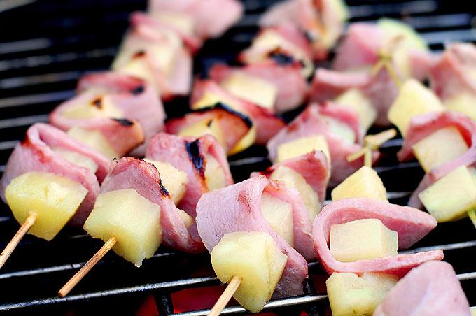 Grilled Pineapple Ham Kabobs Recipe