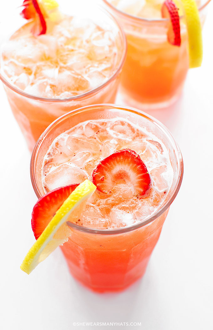 Strawberry Lemonade Recipe | She Wears Many Hats