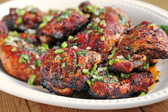 Southwestern Grilled Chicken Recipe with Lime Butter