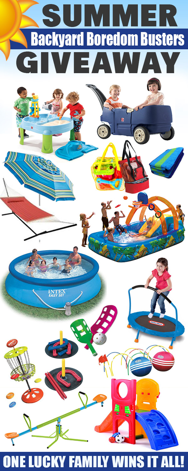 Summer Backyard Boredom Buster Giveaway