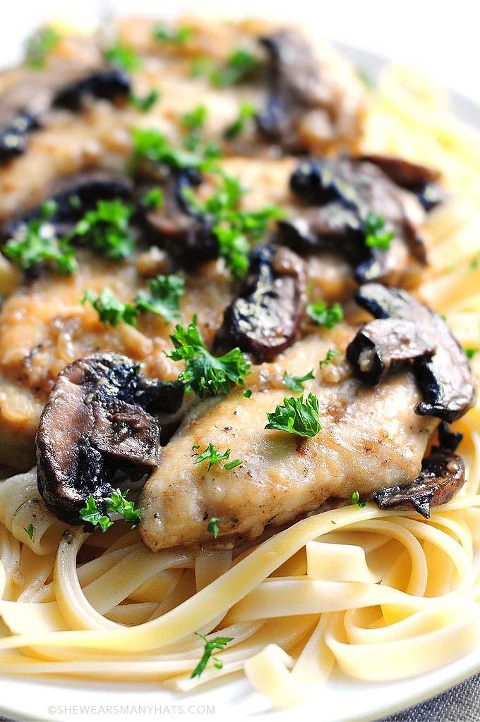 Chicken Marsala Recipe shewearsmanyhats.com
