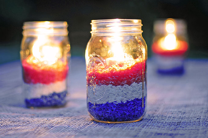 Easy DIY Red White And Blue Party Decoration She Wears Many Hats