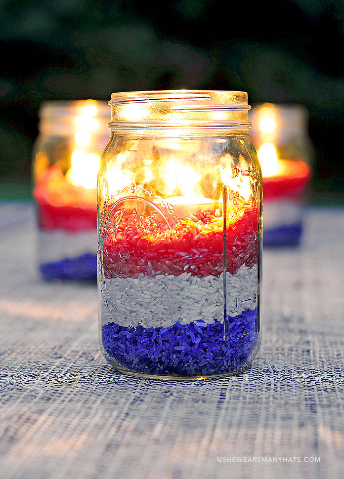 Easy DIY Red White And Blue Party Decoration She Wears