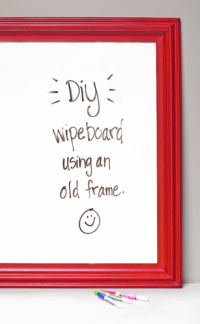 Diy Dry Erase Board Aka Wipe Board She Wears Many Hats