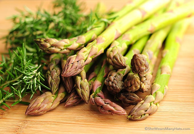 Roasted Asparagus Recipe: Rosemary and lemon combine with fresh ...