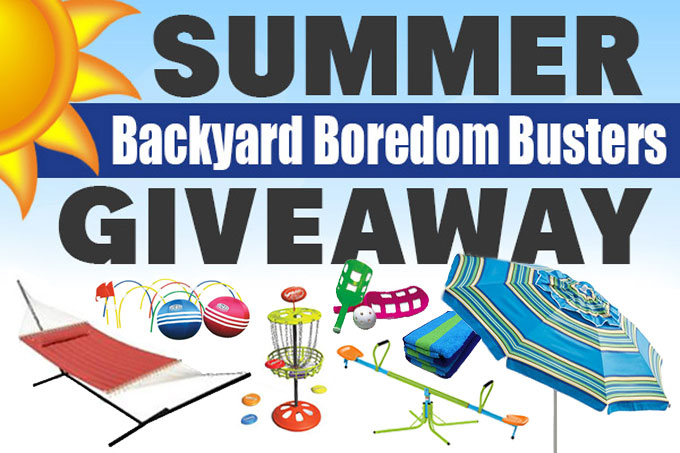 Summer Backyard Boredom Busters Giveaway