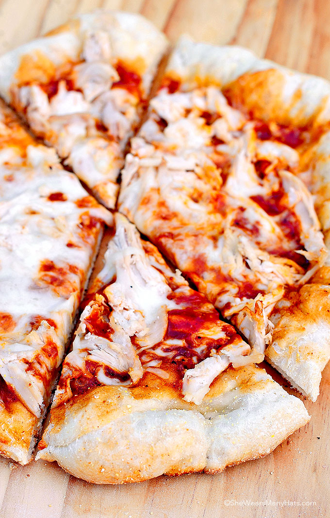 Grilled BBQ Chicken Pizza Recipe shewearsmanyhats.com