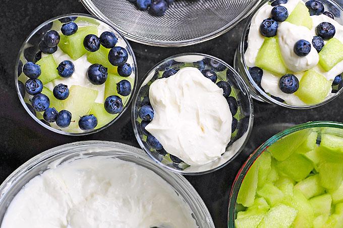 Honeydew Blueberry Lemon Cream Trifle Recipe