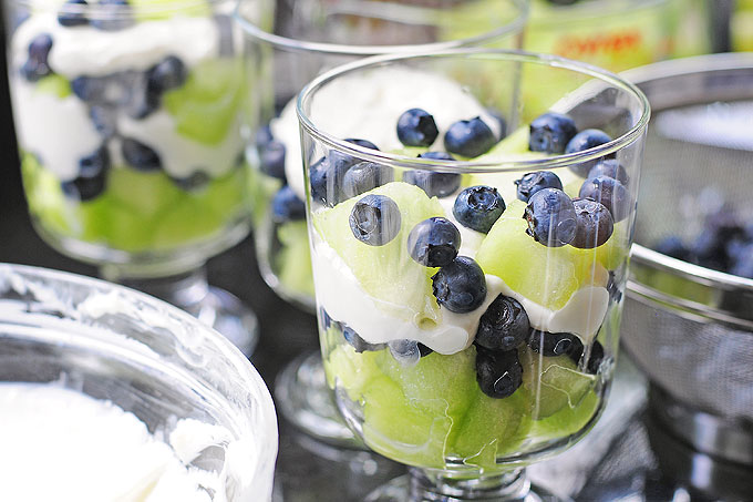 Honeydew Blueberry Lemon Cream Trifle Recipe