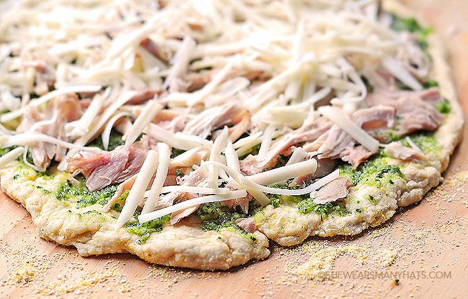 Pesto Chicken Homemade Pizza Recipe