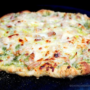 Pesto Chicken Homemade Pizza Recipe