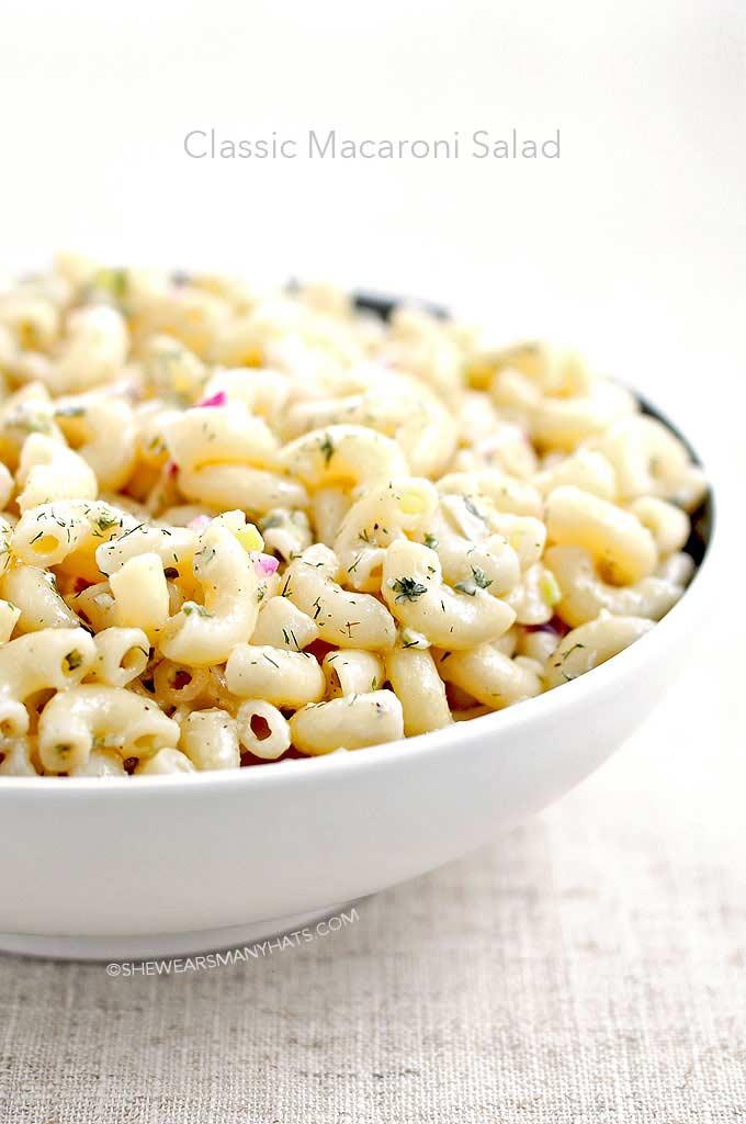 Easy Classic Macaroni Salad Recipe | shewearsmanyhats.com