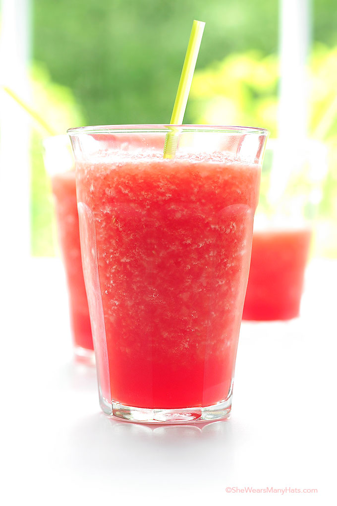 Watermelon Coconut Slushie Recipe