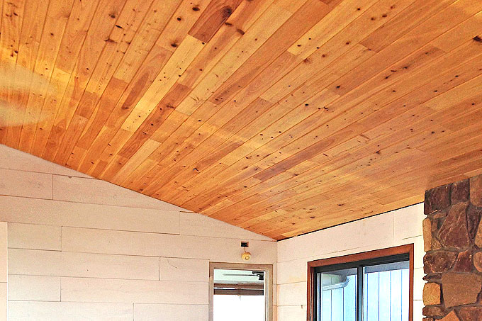 Cover a Popcorn Ceiling with Cypress Wood