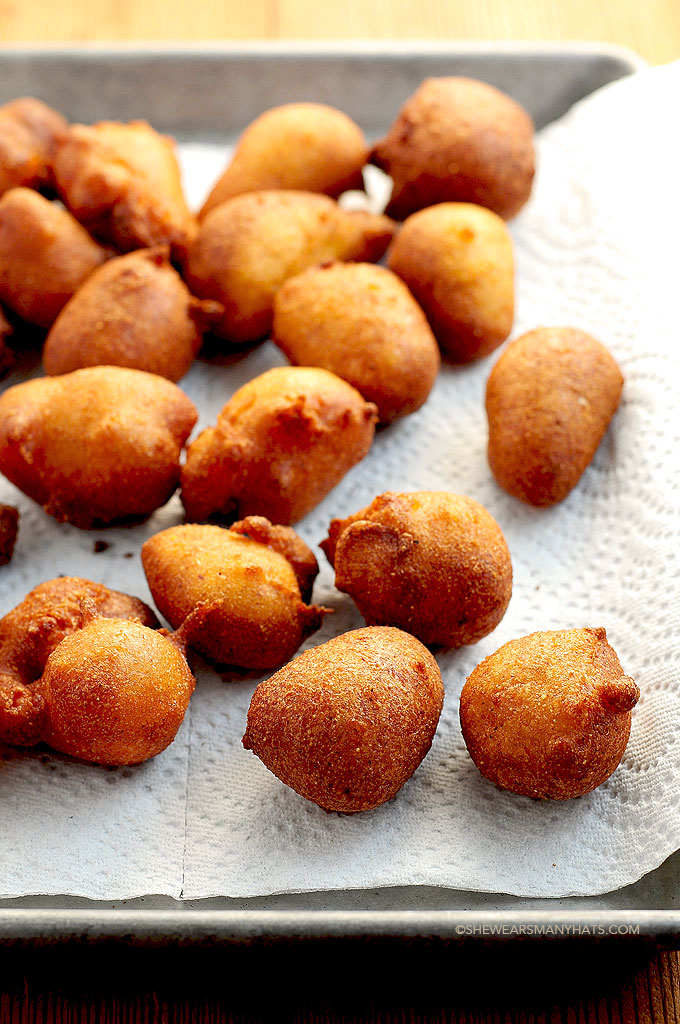 Beer Batter Hush Puppies Recipe She Wears Many Hats