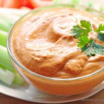 Easy Roasted Red Pepper Dip Recipe | shewearsmanyhats.com