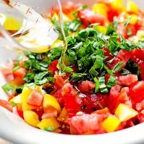 Tomato Basil Bruschetta Recipe