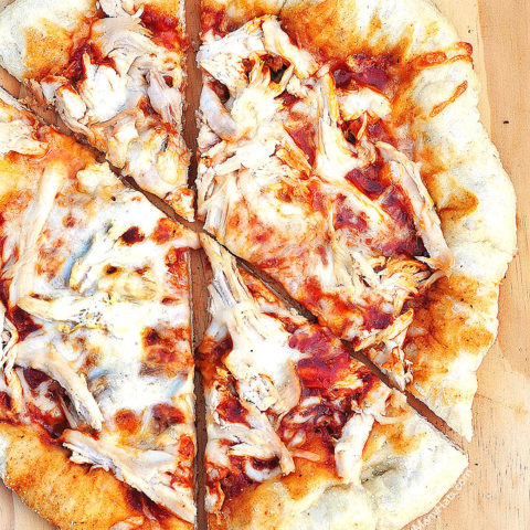 BBQ Chicken Pizza Recipe shewearsmanyhats.com