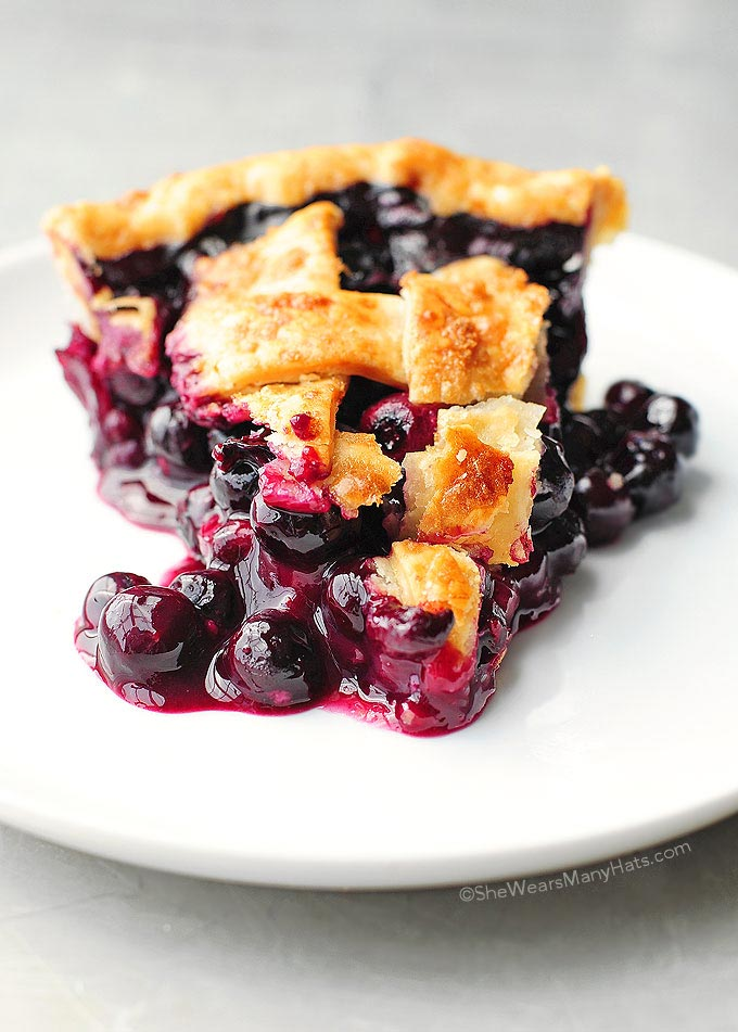 Easy Blueberry Pie Recipe | She Wears Many Hats
