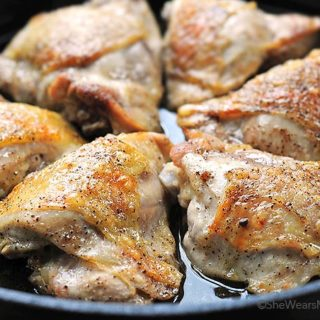 Easy Beer Braised Chicken Recipe | shewearsmanyhats.com