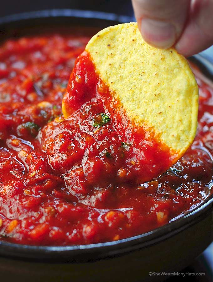 Spicy Roasted Salsa Chipotle Salsa Recipe notes: