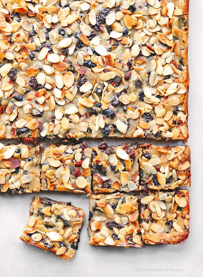 Easy Almond Cherry Oatmeal Bars Recipe