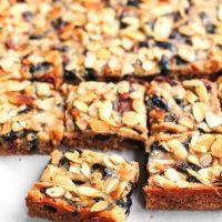 Almond Cherry Oatmeal Bars Recipe