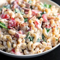 macaroni with bacon
