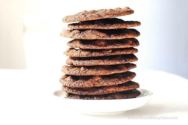 Double Dark Chocolate Cookies Recipe