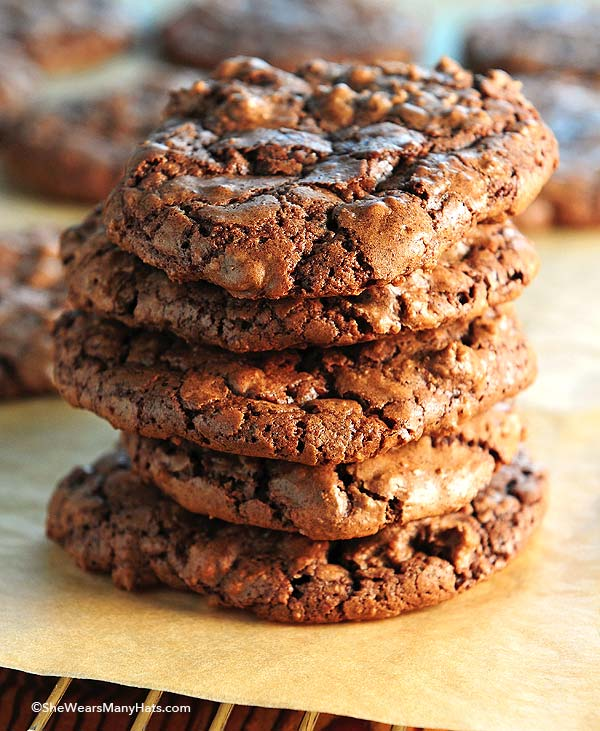 Double Chocolate Crackled Cookies
