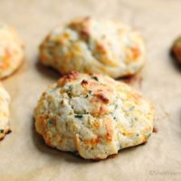 Sour Cream Cheddar and Chives Drop Biscuits Recipe