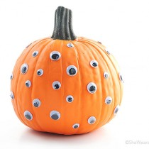googly eyes pumpkin