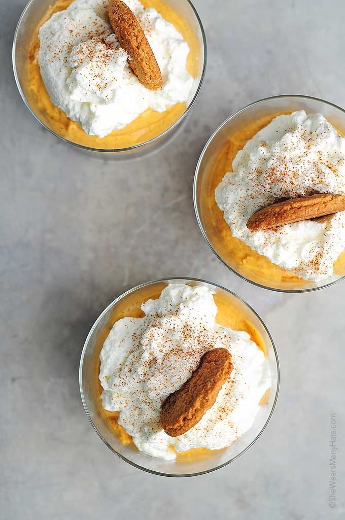 Easy No Bake Pumpkin Cheesecake Recipe | She Wears Many Hats