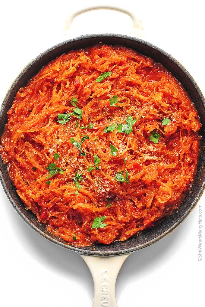 Marinara Spaghetti Squash Recipe She Wears Many Hats