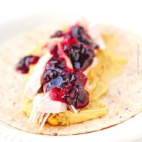 Rosemary Hummus Cranberry Turkey Wraps